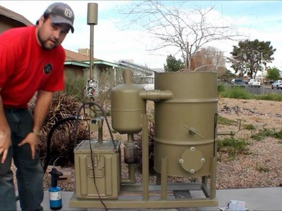 Amazing homemade gasifier uses wood pellets to run generator -- renewable alternative energy video