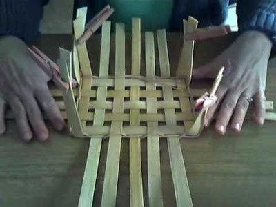 Basket Weaving Video #5 Upsetting the Sides of a Basket