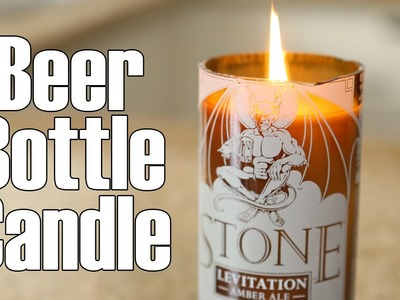 Beer. wine  bottle candles ♥ DIY