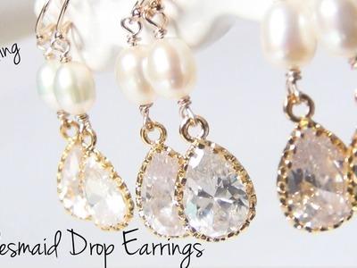 Bridesmaid Drop Earrings ♥ DIY Wedding