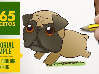 COMO DIBUJAR UN PUG KAWAII PASO A PASO - Dibujos kawaii faciles - How to draw a pug