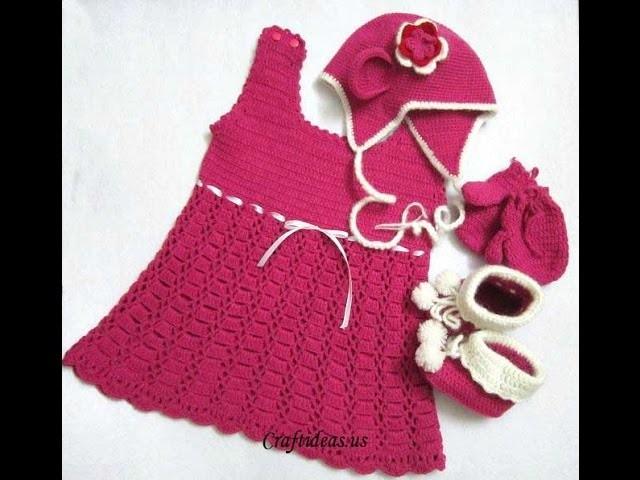 Crochet cute baby dress