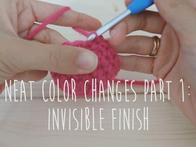 [crochet] Neat color change p1 :  invisible finish. Changement de couleurs p1 : finition invisible