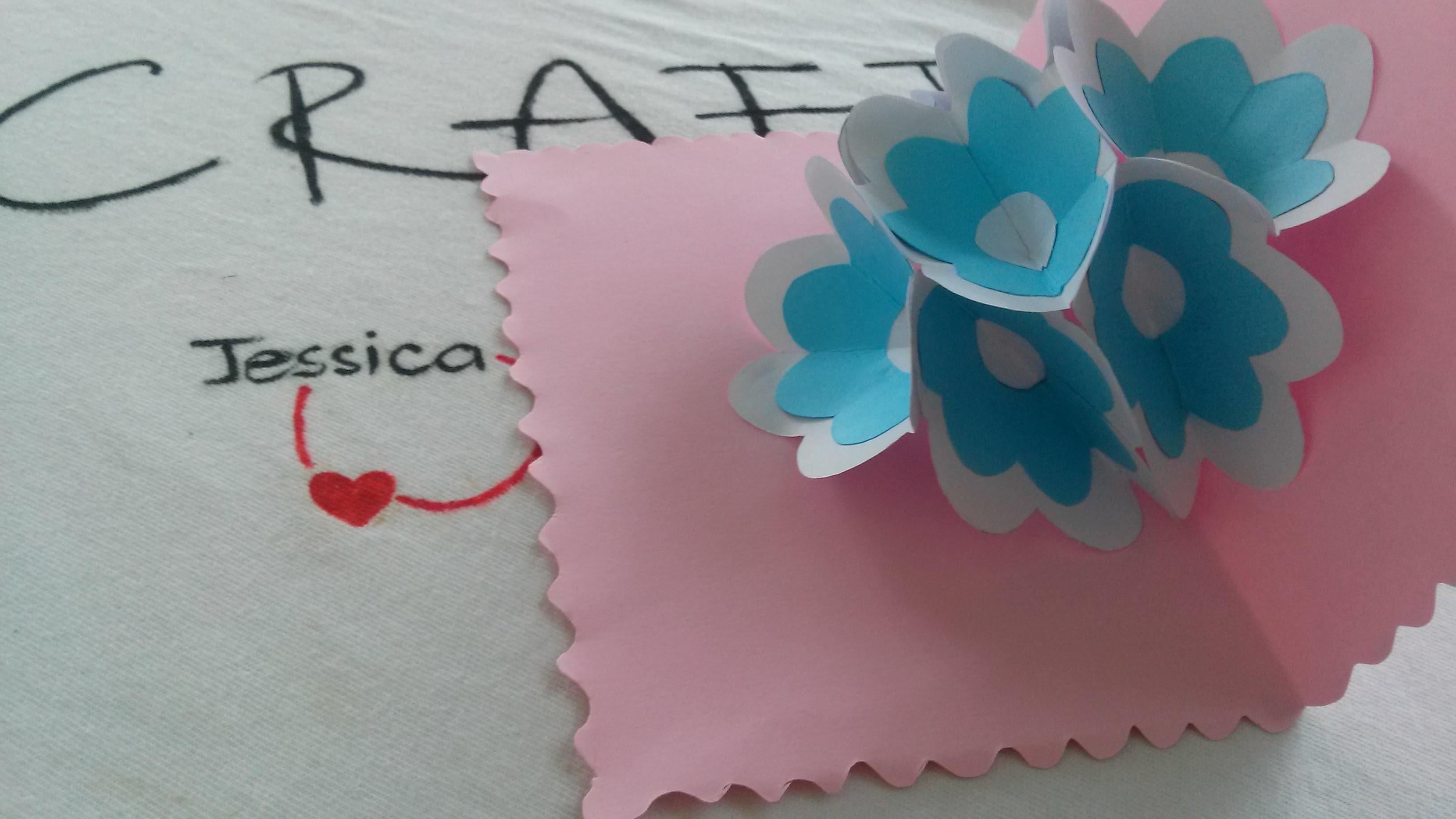 DIY - 3D Paper Flower Card