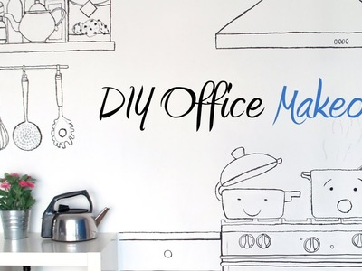 DIY - Decorate your walls with markers (Office Makeover)