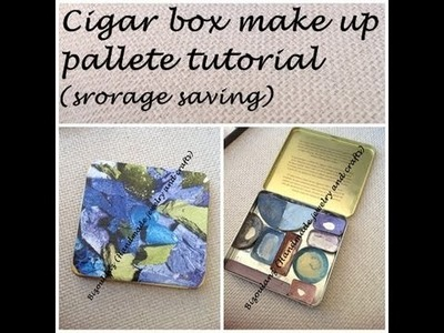 Diy, eye shadow storage box container, save some space for your makeup