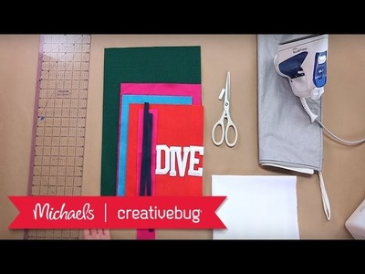 DIY Felt Pennant | Mini Project Class | Michaels & Creativebug