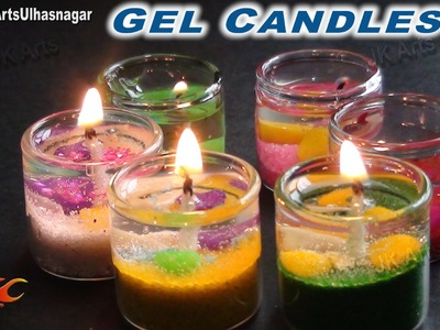 DIY Gel Candles in Cute Small Glass | How to make | JK Arts  684