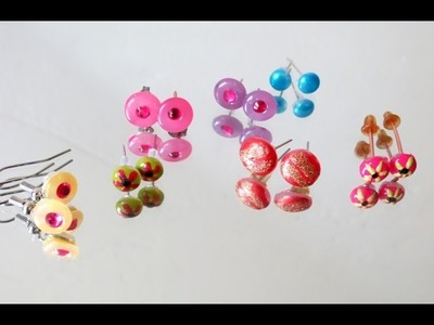 DIY: Hot Glue Gun Earring Studs