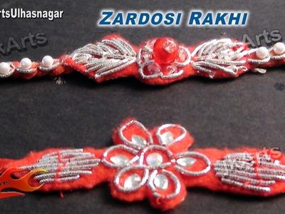 DIY How to make Zardosi (Zardozi) rakhi for Raksha Bandhan - JK Arts 541