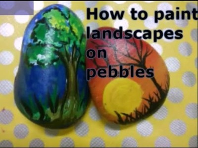 DIY | How to paint on pebble.rock | Pebble painting
