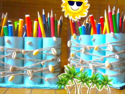 DIY Pencil Holder Recycling Toilet Paper Rolls | Back to School 2015
