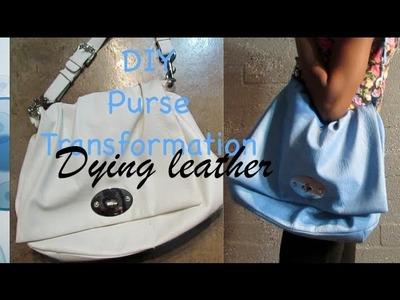 ♡♡DIY Purse Transformation : Dying leather!  ♡♡ July 5th 2013 | @BellaTheMUA