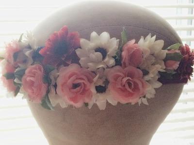 DIY : Romantic Flower Headband. Crown   Series # 1