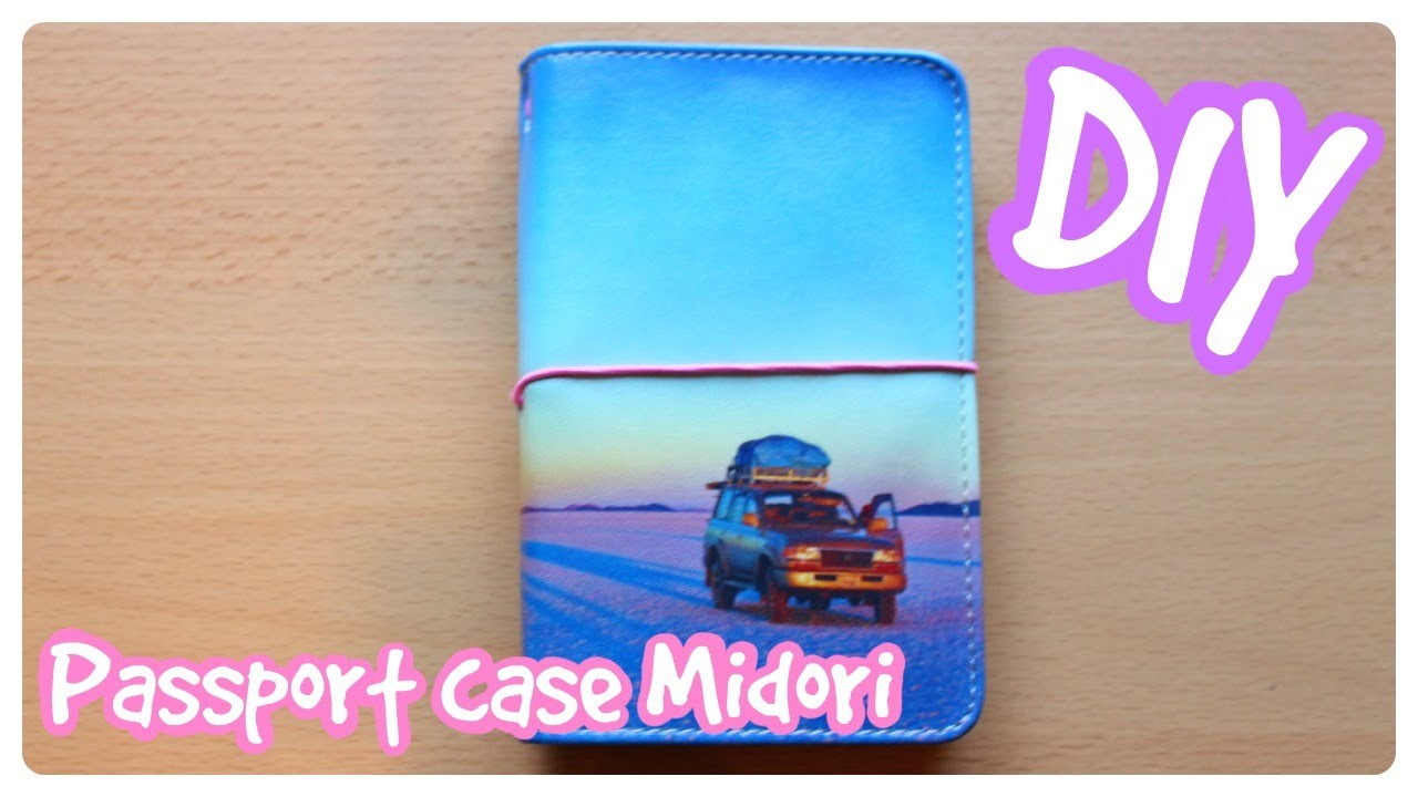 DIY Turn your Passport case into a Traveler's notebook!
