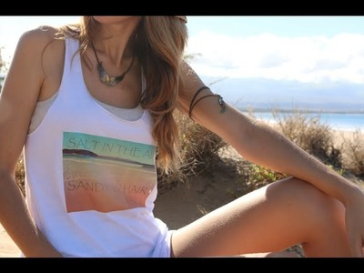DIY Vintage Graphic T-Shirt.Tank