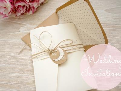DIY Wedding Invitations - Cards & Pockets