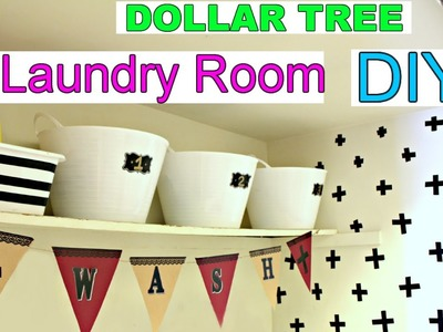 DOLLAR TREE LAUNDRY ROOM DIY | APARTMENT DECORATING IDEAS | SensationaFinds
