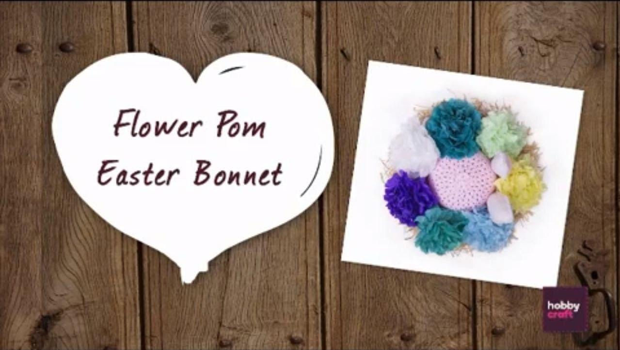 Flower Pom Easter Bonnet