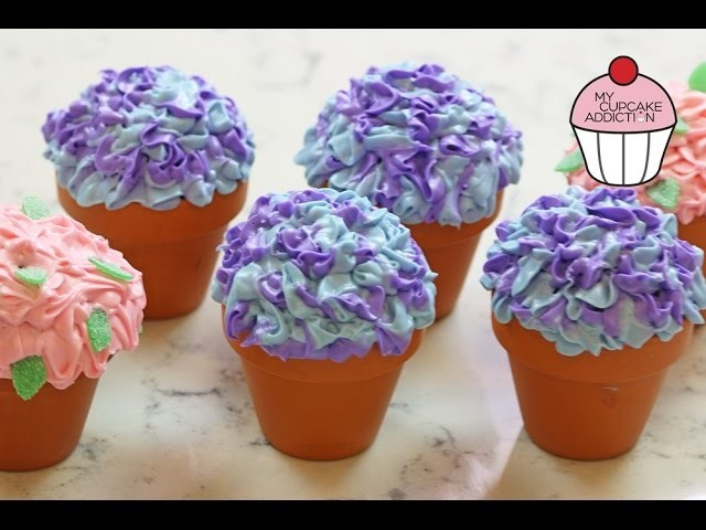 Flowerpot Cupcakes for Mothers Day w. ANNEORSHINE | My Cupcake Addiction