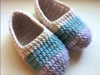 Free crochet slippers for beginners