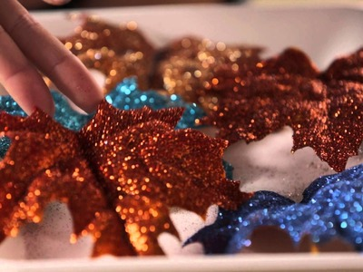 Glittering Leaf Craft for Your Front Door