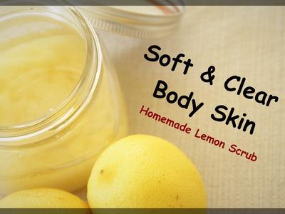 Homemade Lemon Body Scrub