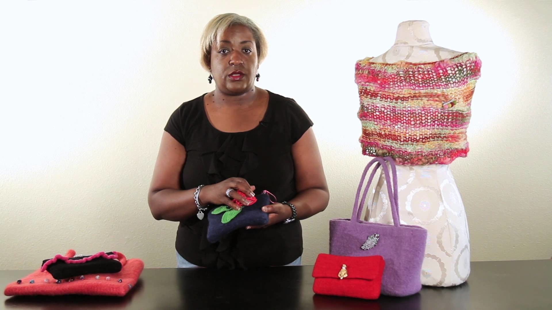 How to Add Embellishments to Felted Purses : Handbag Ideas