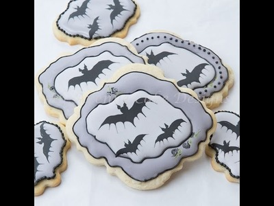 How to Create Royal Icing Bat Cookies