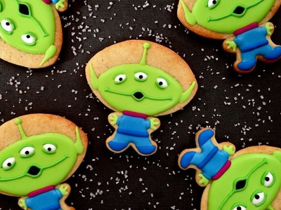 How To Decorate Toy Story Alien Cookies! Collaboration With Cakes By ChoppA
