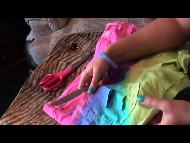 How To Dip Dye Your shorts