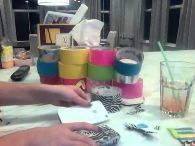 How to make a iphone. itouch case out of duct tape ( part 3)