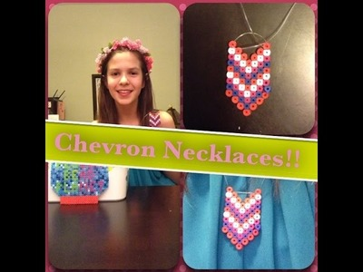 How To Make A Perler Bead Chevron Necklace! March's Fashion Friday