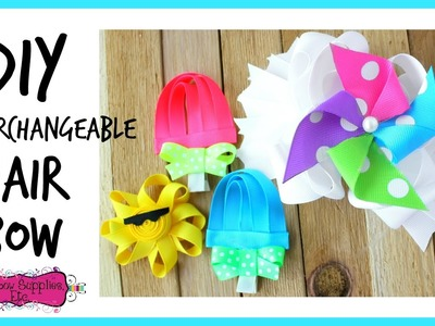 How to Make an Interchangeable Hair Bow - Hairbow Supplies, Etc.
