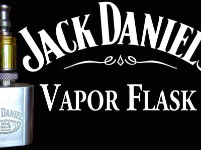 Jack Daniels Vapor Flask DIY Vaping Mod now where's the e-Juice