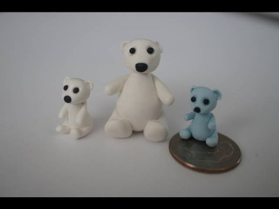 Miniature Bear Tutorial, Tiny Polymer Clay Polar Bear Tutorial