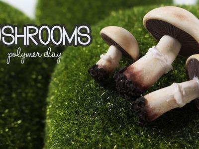 Polymer clay Mushrooms TUTORIAL