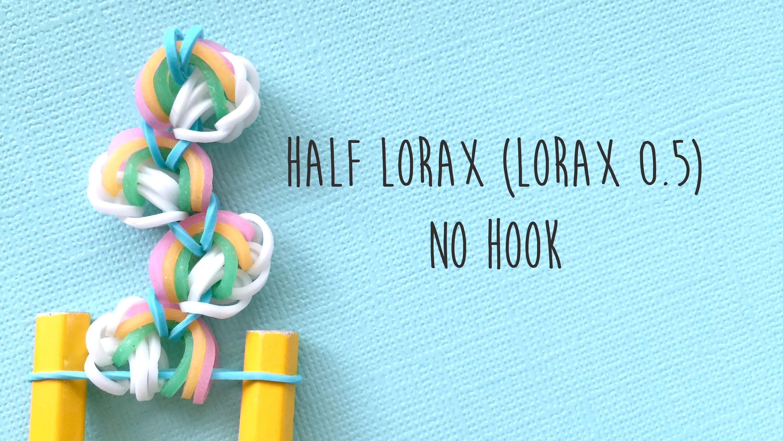 Rainbow Loom Bands Half Lorax on Loom (No Hook) Tutorial