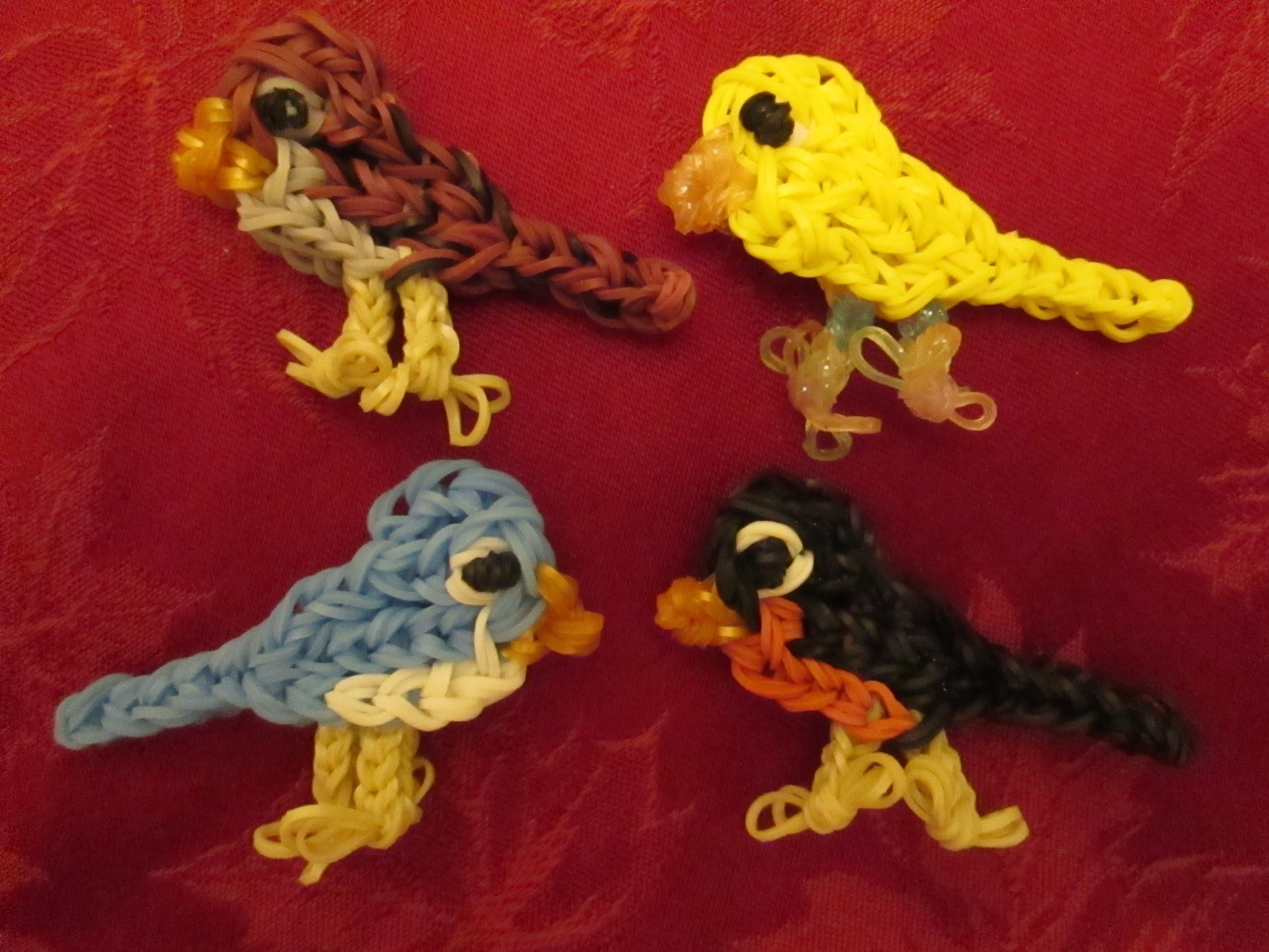 Rainbow Loom Basic Bird Charm.