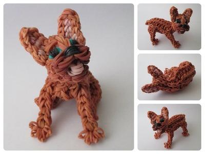 Rainbow Loom french bulldog puppy Part 2.2 Loombicious