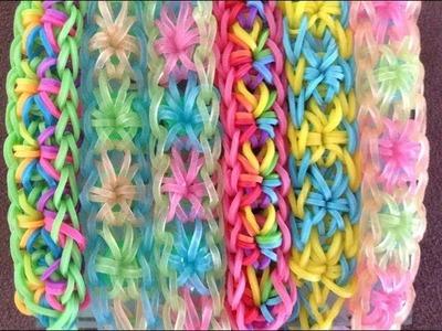 Rainbow Loom: How to make a Starburst bracelet design tutorial easy beginner intermediate