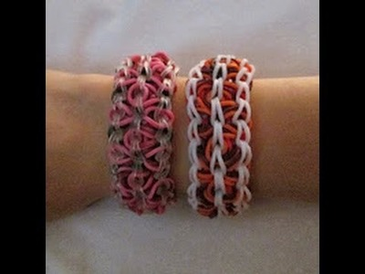 Rainbow Loom- How to Make a Lava Lamp Bracelet (Original Pattern)