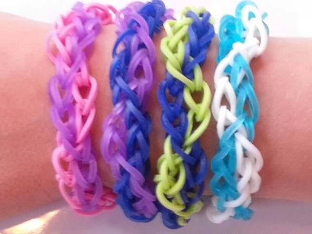 RAINBOW LOOM ZIG ZAG BRACELET - HOW TO EASY