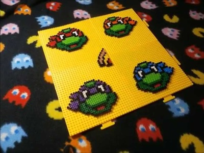 TMNT (80s) with Pizza ~  Perler Bead (Stop Motion)