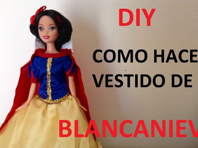 TRANSFORMA TU MUÑECA EN BLANCANIEVES.how to dress a dolls snow white