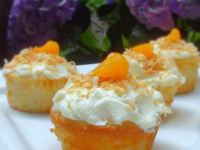 Tropical Mandarin Cupcakes Recipe - How to Make Cupcakes