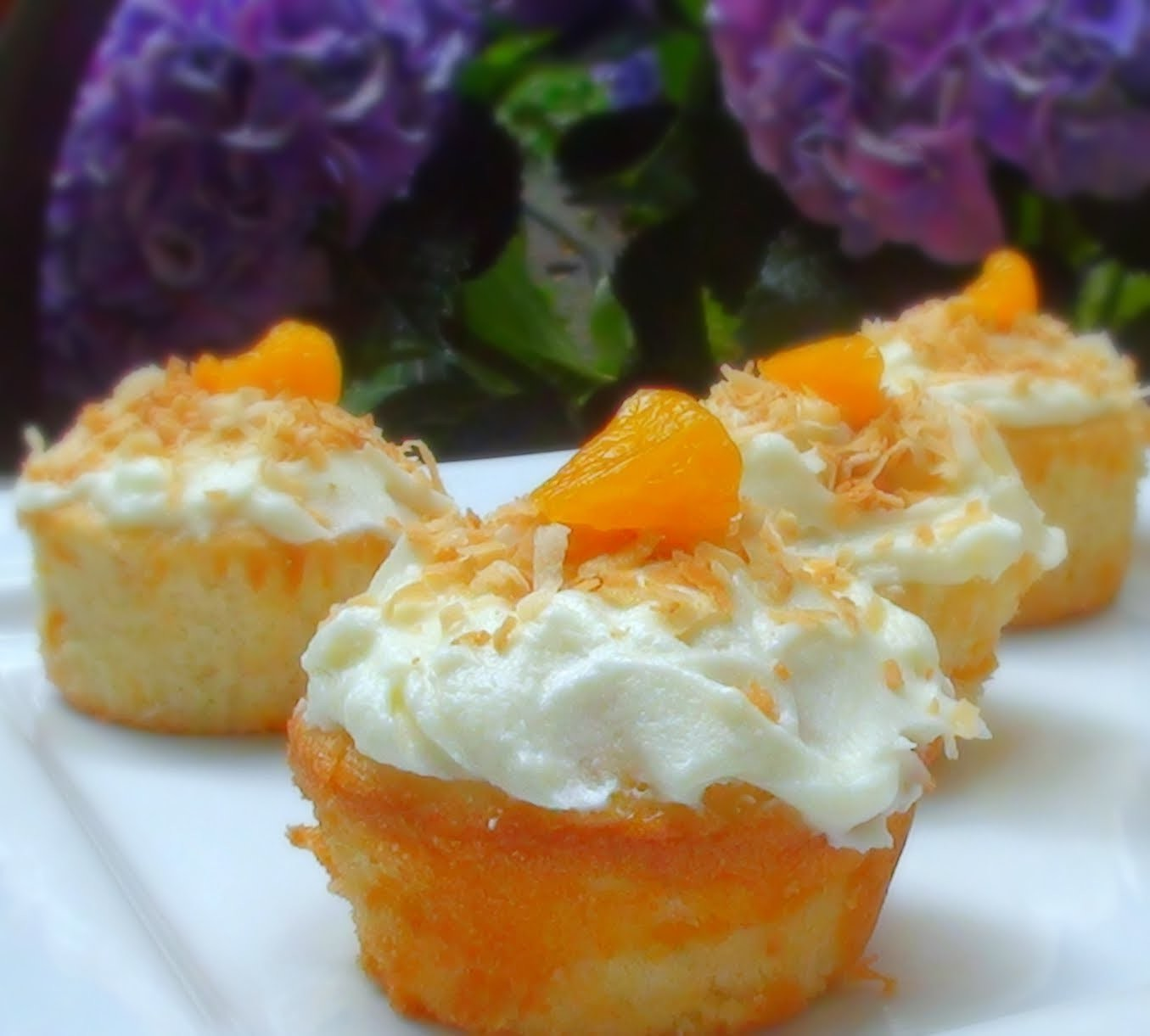Tropical Mandarin Cupcakes Recipe - How to Make Cupcakes