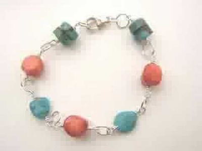 Beginner Jewelry Design - Turquoise and Coral