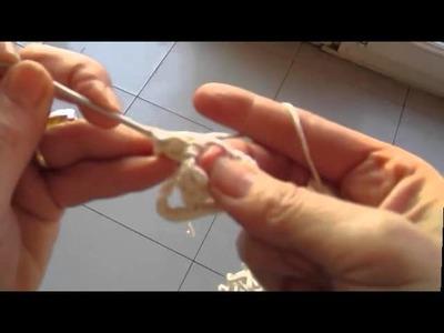 Comment faire un  carré en crochet pour gauchère