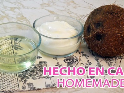 Como hacer manteca y aceite de COCO ♥ How to how make coconut butter and coconut oil